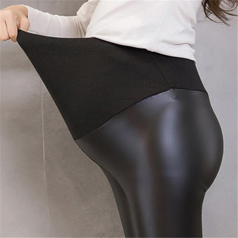 Legging grossesse en simili-cuir
