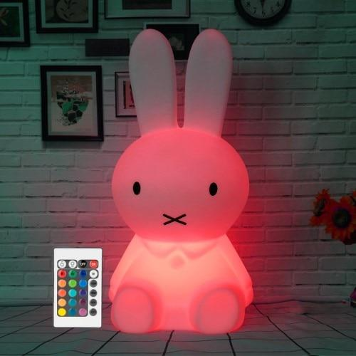 Veilleuse Lampe Lapin Avec Télécommande