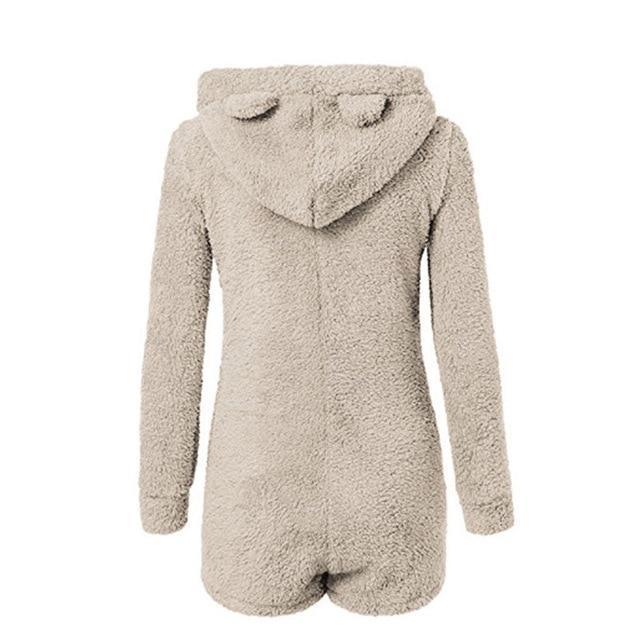 Pyjama polaire à capuche pour femme