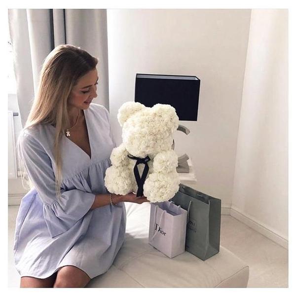 Idée Cadeau Femme-Ours En Roses Éternelles