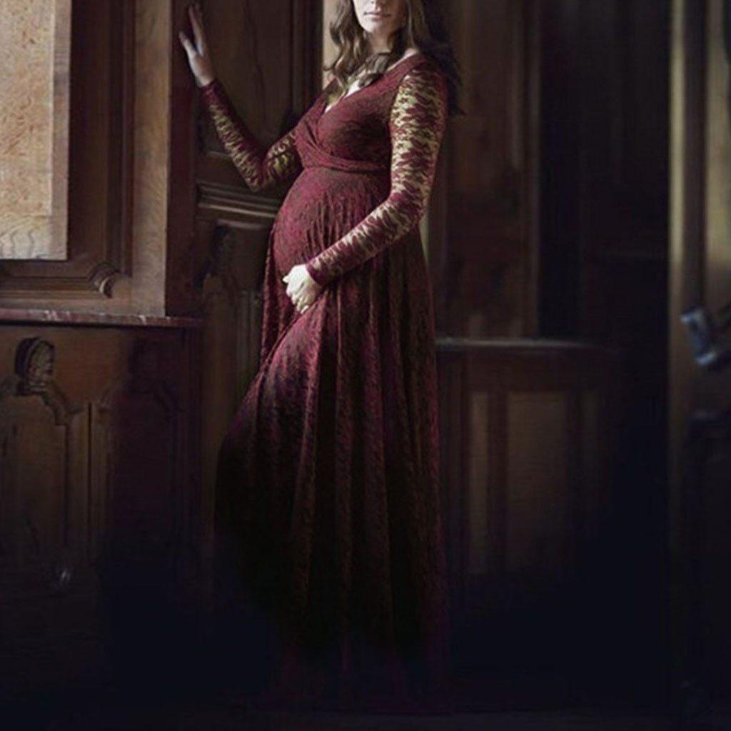 Jolie Robe de maternité en dentelle