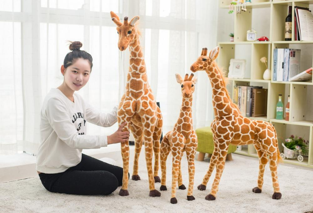 Magnifique peluche girafe