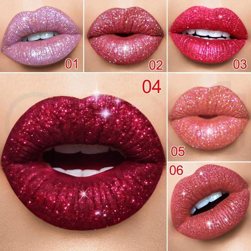 Rouge à lèvres à paillettes
