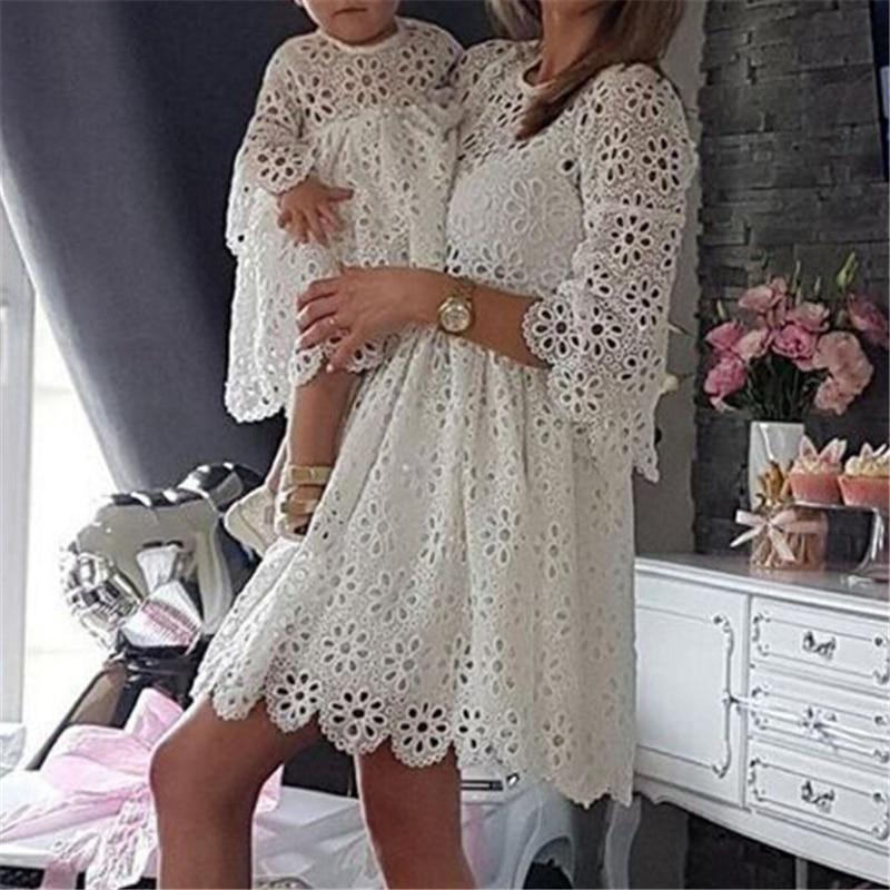 Robe floral assortie mère fille