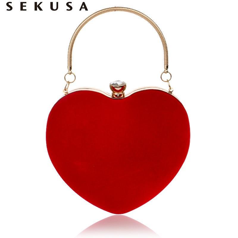 Pochette en forme de cœur