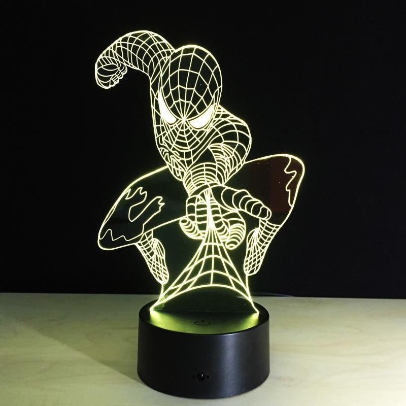Lampe LED 3D Spiderman