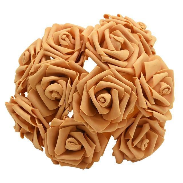 Bouquet de roses synthétiques ( 25pcs)