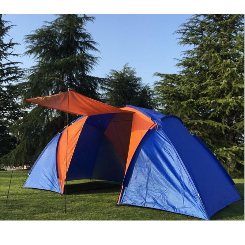 Tente de camping double cabine