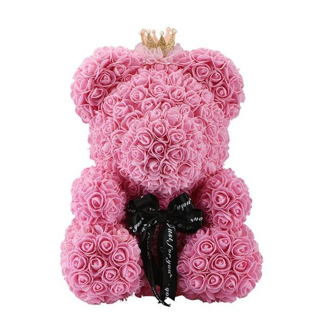 Ours En Fleurs Éternelles - Cadeau Original