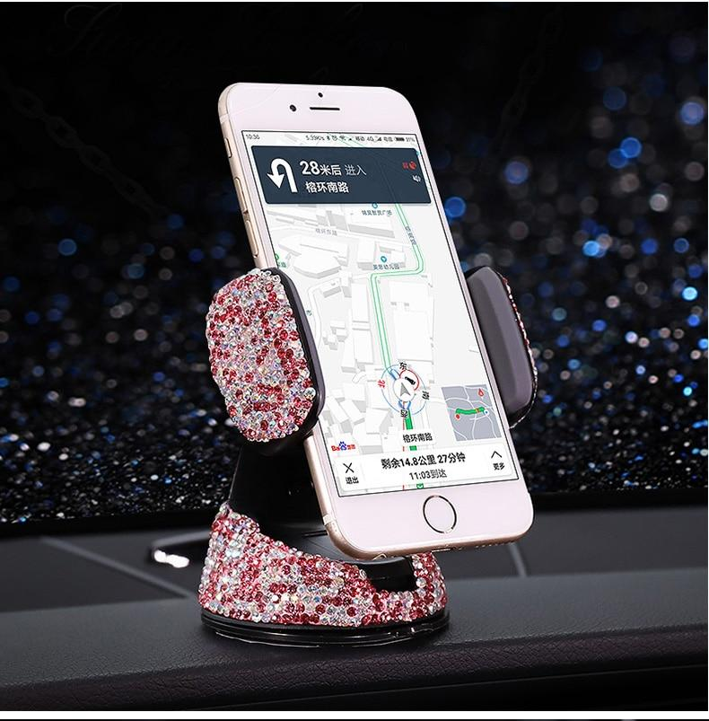 Support Avec Strass Pour Smartphone