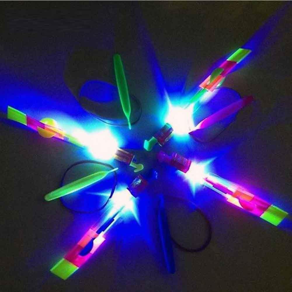 Hélicoptère à lancer lumineux (5Pcs)