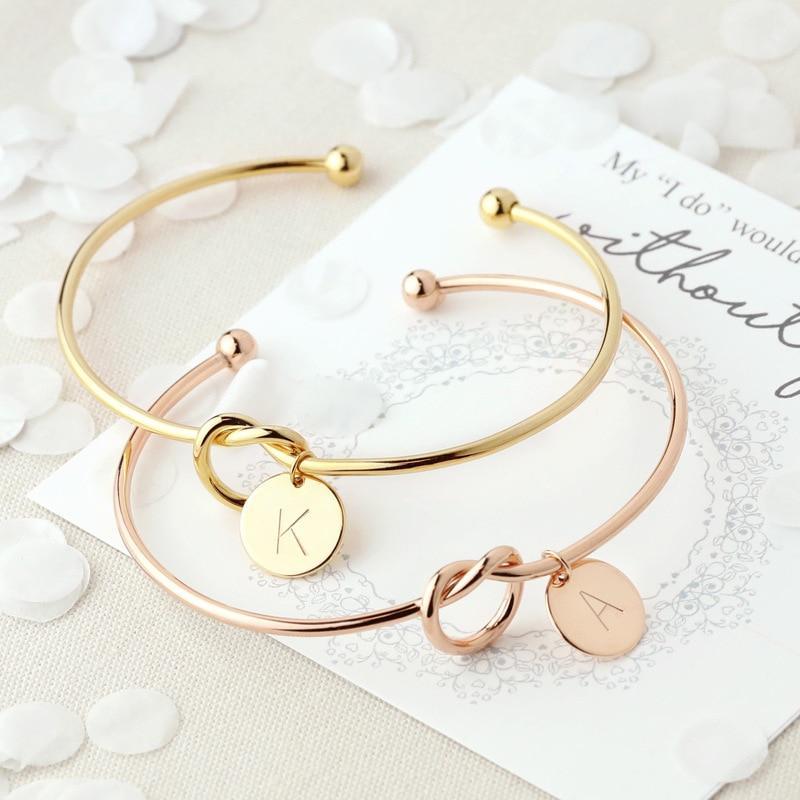 Bracelet Nœud Initiales