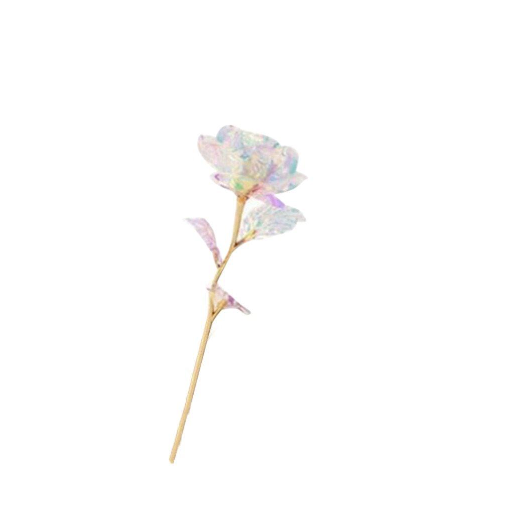 Rose Rayonnante En Cristal