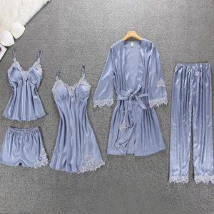 Pyjamas En Satin 5 pièces