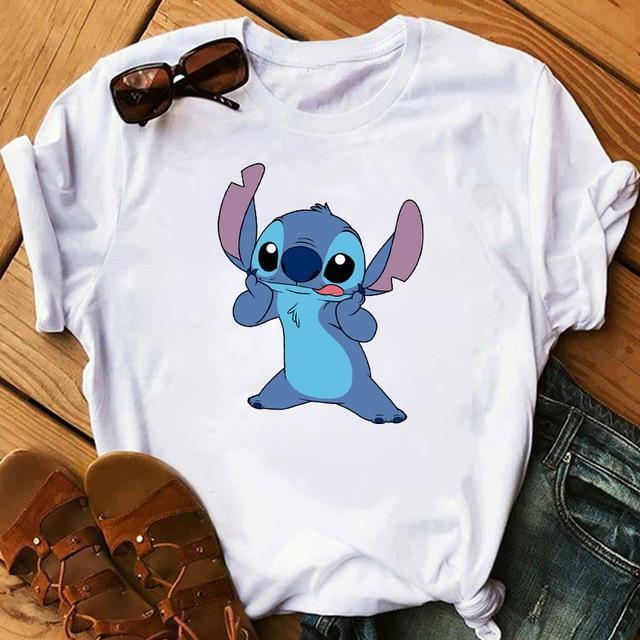 T-Shirt A Imprimé Lilo & Stitch