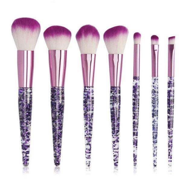 Pinceaux Makeup Poignée Effet Cristal