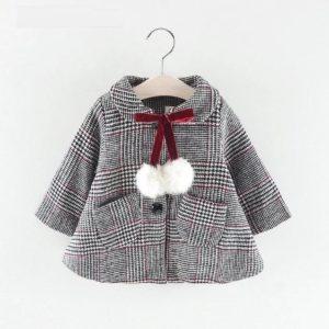 Manteau En Laine Avec Pompon