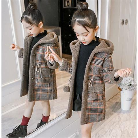 Manteau A Capuche Pour Fille