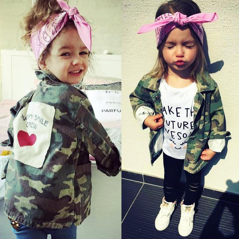 Veste Camouflage Pour Fille