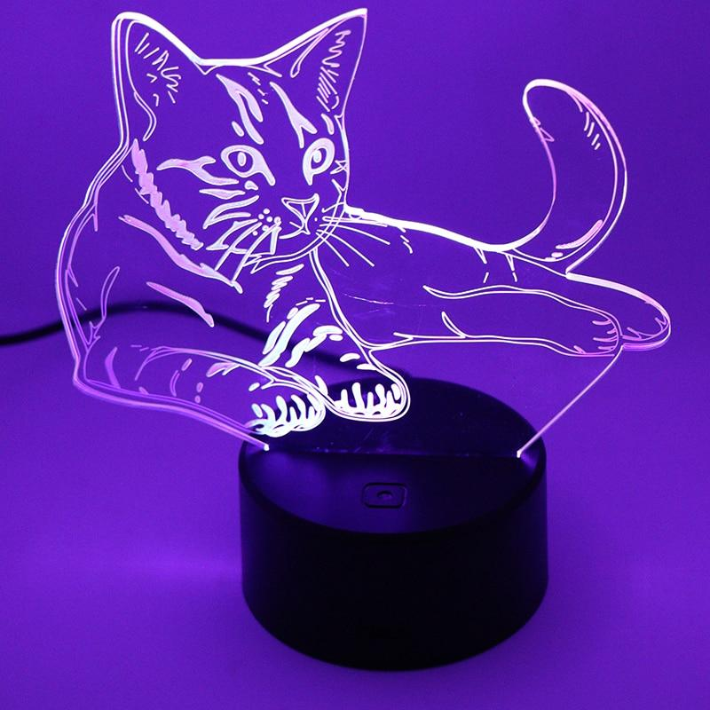 Veilleuse Chat Led