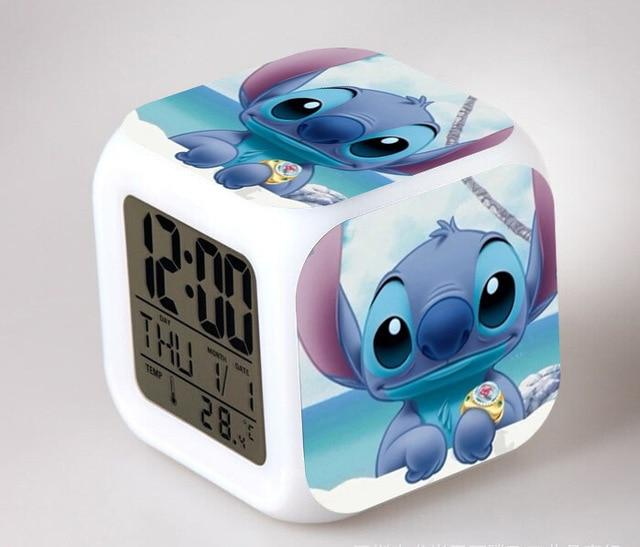 Cute Réveil Lilo & Stitch LED