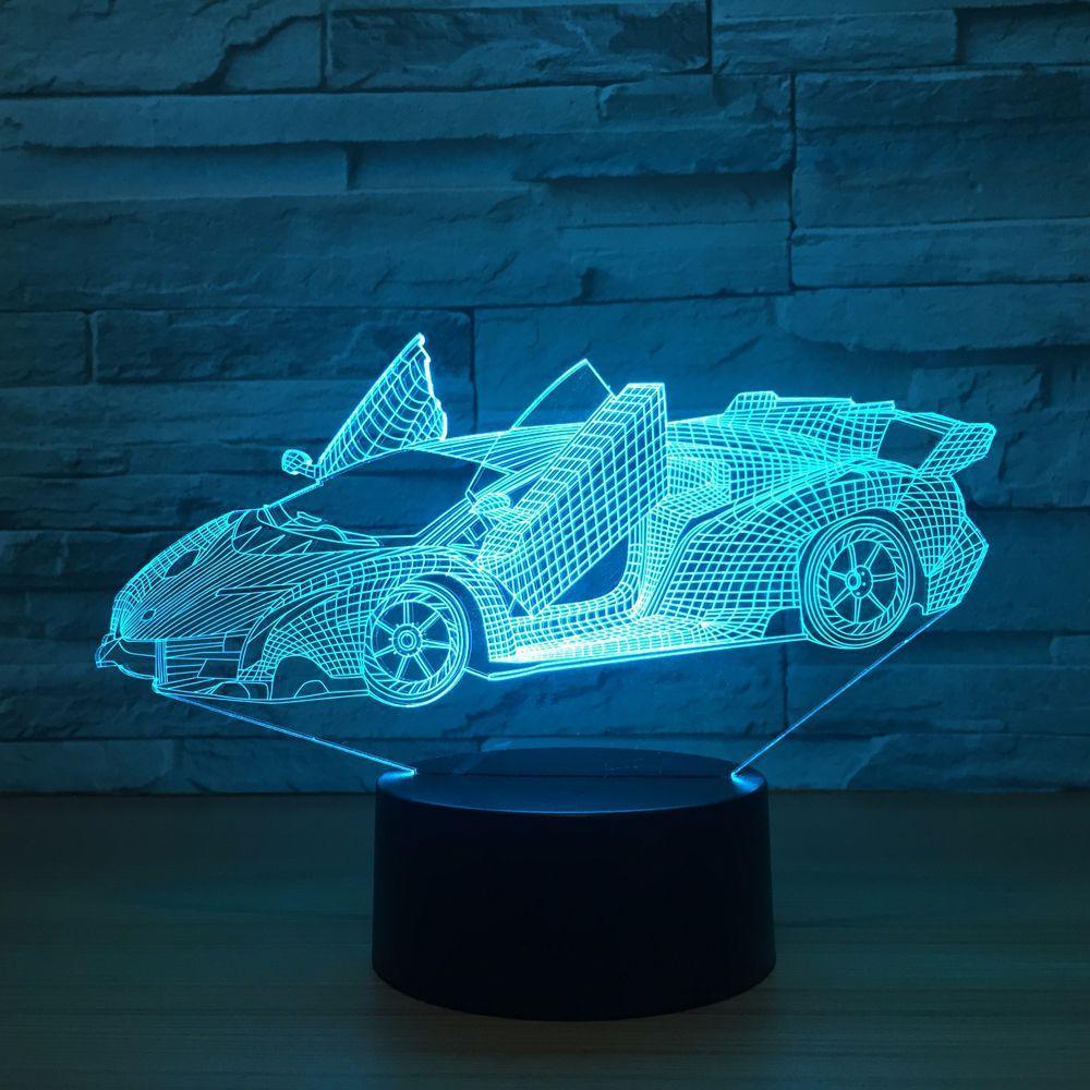 Veilleuse Voiture Acrylique 3D