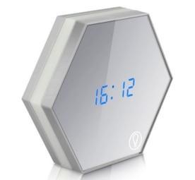Horloge Hexagone Numérique Led