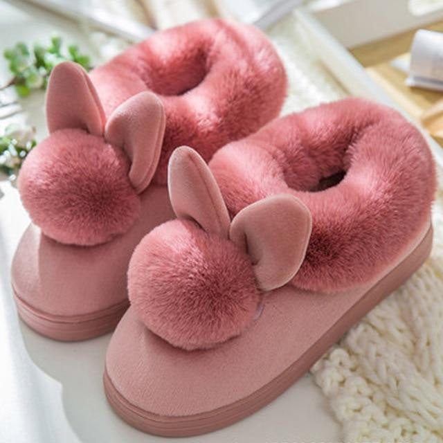 Chaussons Lapin Pour Femme