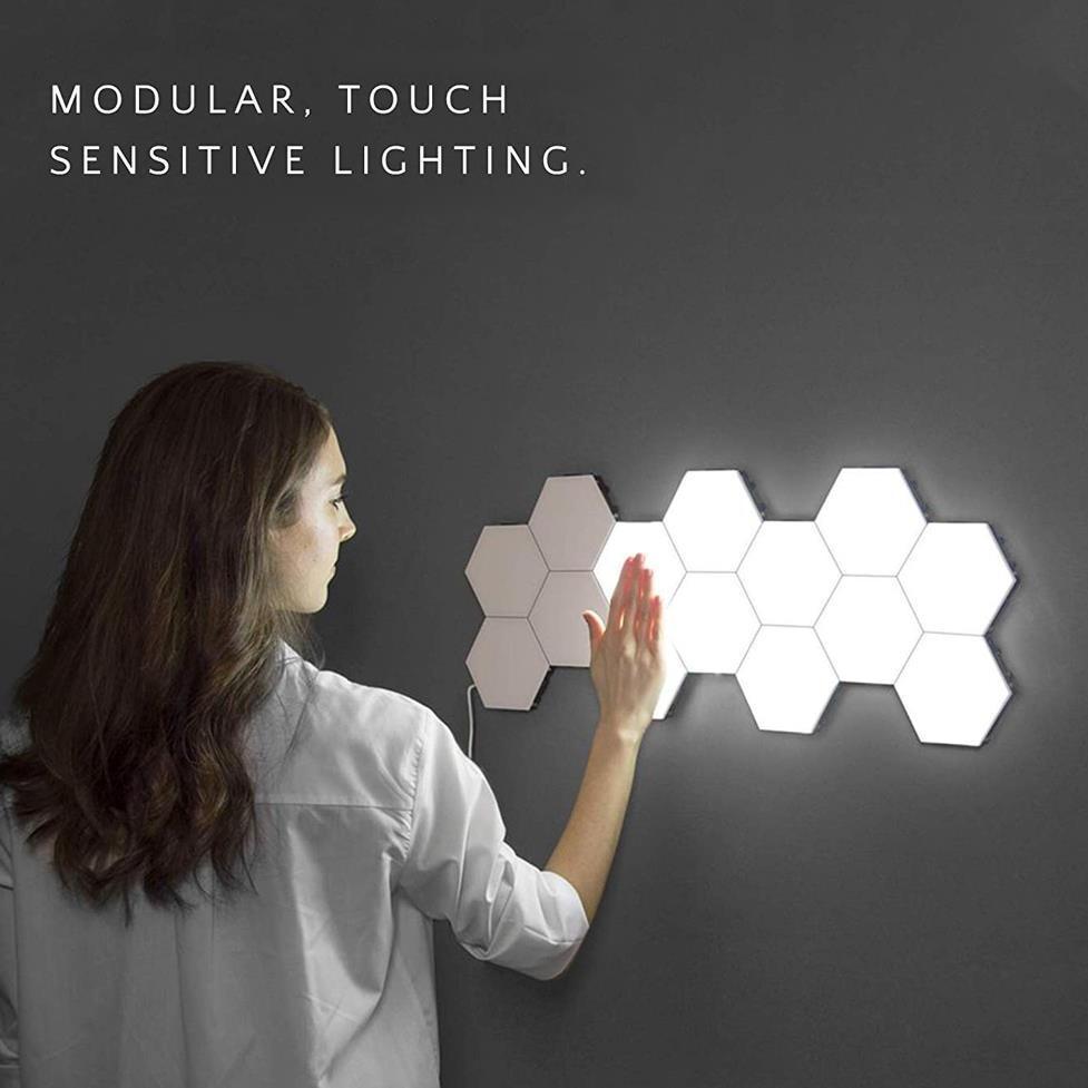 Lampe Hexagonale Tactile Murale