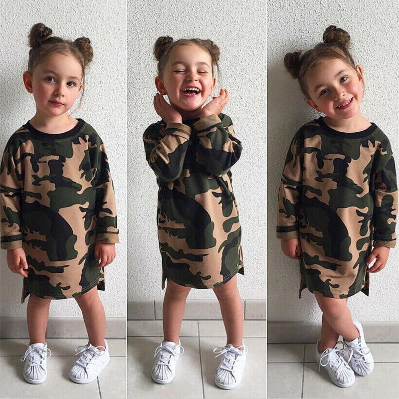 Robe Pull Camouflage Pour Fille
