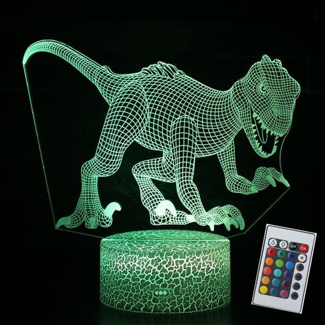 Veilleuse Dinosaure 3D LED