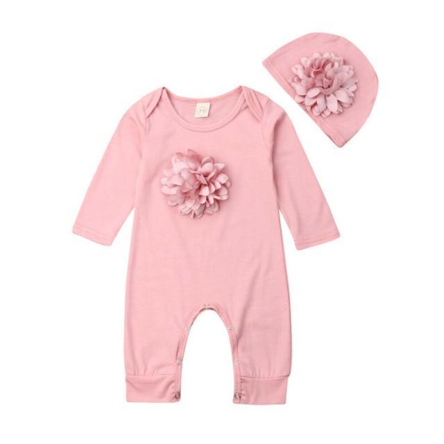 Barboteuse Florale Pour Bébé