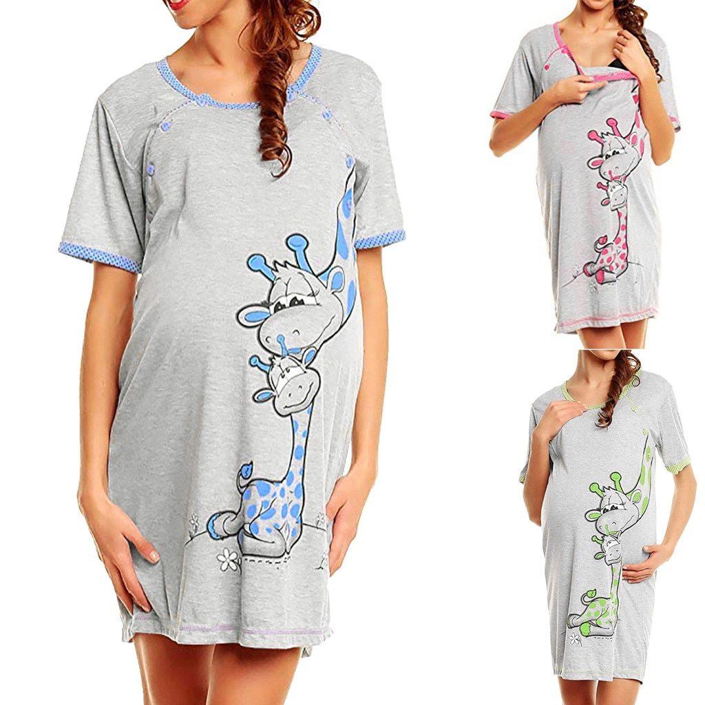 Robe De Maternité A Imprimé