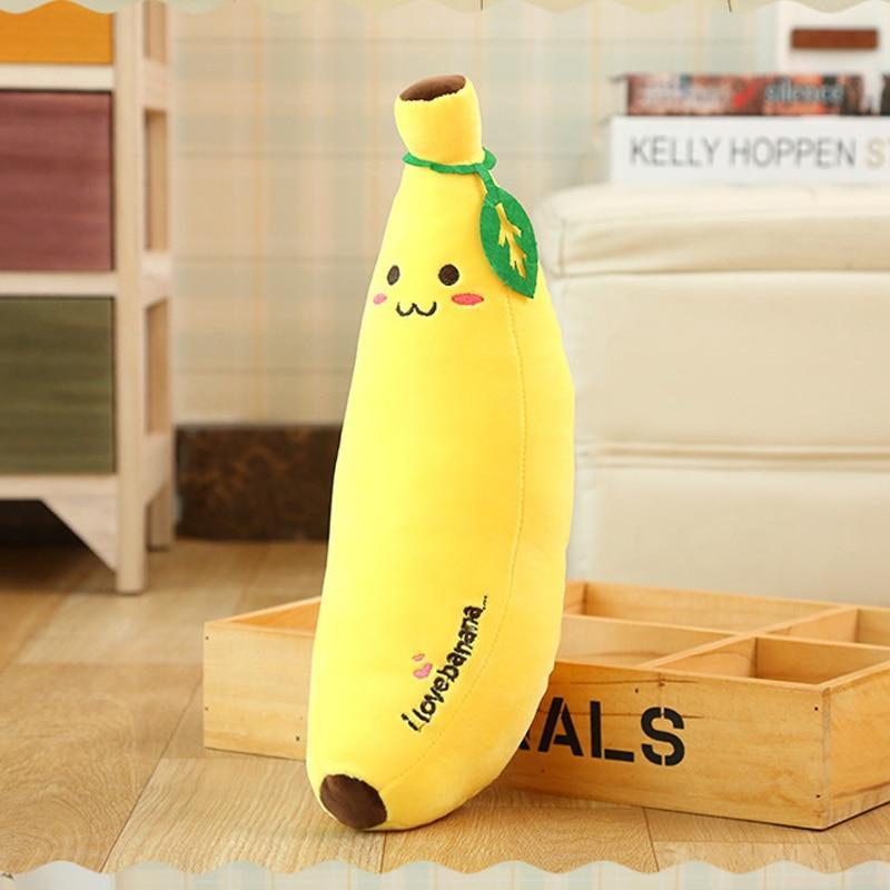 Coussin Banane En Peluche