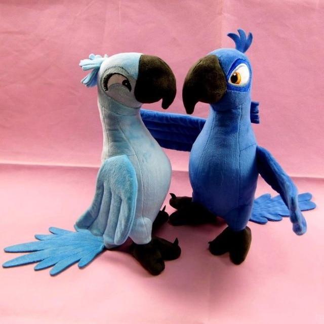 Magnifique Peluche Perroquet Bleu